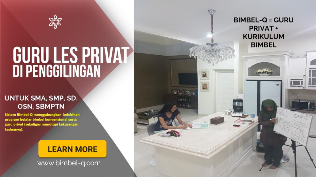 GURU LES PRIVAT PENGGILINGAN JAKARTA TIMUR : INFO BIMBEL PRIVAT