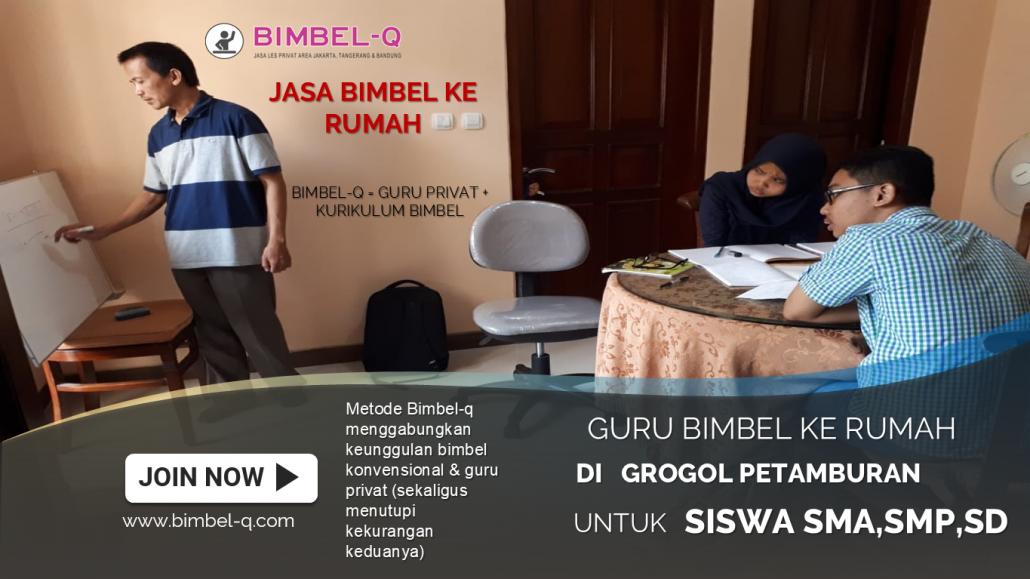 GURU LES PRIVAT DI GROGOL JAKARTA BARAT : INFO BIMBEL PRIVAT