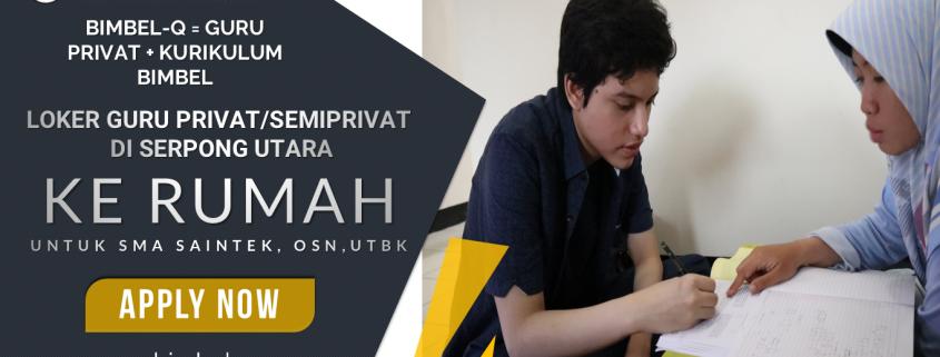 Loker Guru Serpong Utara Tangerang Selatan Sma Utbk